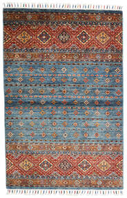 Shabargan Rug 104X156 Authentic  Modern Handknotted Blue/Dark Grey (Wool, Afghanistan)