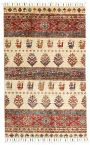 Shabargan Rug 90X145 Authentic  Modern Handknotted Beige/Dark Red (Wool, Afghanistan)