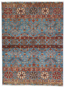 Sharbargan Rug 106X143 Authentic  Modern Handknotted Dark Brown/Blue (Wool, Afghanistan)