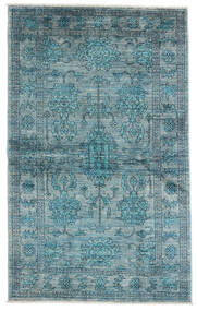 Mirage Rug 99X163 Authentic  Modern Handknotted Blue/Dark Turquoise   (Wool, Afghanistan)