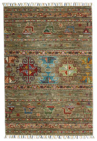 Shabargan Rug 87X125 Authentic  Modern Handknotted Olive Green/Brown (Wool, Afghanistan)