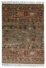 Shabargan Rug 86X123 Authentic  Modern Handknotted Brown/Dark Brown (Wool, Afghanistan)