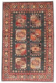 Kazak Rug 118X179 Authentic  Oriental Handknotted Dark Red/Dark Grey (Wool, Afghanistan)
