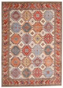 Kazak Rug 244X342 Authentic Oriental Handknotted Light Brown/Beige (Wool, Afghanistan)