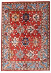 Kazak Rug 144X203 Authentic  Oriental Handknotted Dark Red/Rust Red (Wool, Afghanistan)