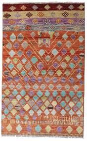 Moroccan Berber - Afghanistan Rug 112X180 Authentic  Modern Handknotted Dark Red/Crimson Red (Wool, Afghanistan)