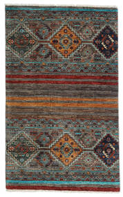 Sharbargan Rug 82X132 Authentic  Modern Handknotted Black/Dark Grey (Wool, Afghanistan)