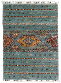 Shabargan Rug 85X117 Authentic  Modern Handknotted Turquoise Blue/Light Grey (Wool, Afghanistan)