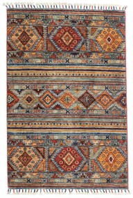 Shabargan Rug 84X128 Authentic  Modern Handknotted Light Grey/Dark Brown/Light Brown (Wool, Afghanistan)
