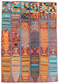 Moroccan Berber - Afghanistan Rug 166X240 Authentic  Modern Handknotted Dark Red/Orange (Wool, Afghanistan)