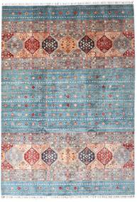 Shabargan Rug 207X295 Authentic  Modern Handknotted Light Grey/Light Blue (Wool, Afghanistan)