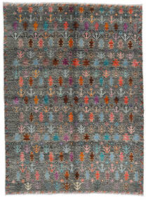 Moroccan Berber - Afghanistan Rug 170X240 Authentic  Modern Handknotted Dark Grey/Light Grey (Wool, Afghanistan)