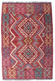Kilim Afghan Old Style Rug 99X151 Authentic  Oriental Handwoven Dark Red/Purple (Wool, Afghanistan)