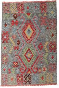 Kilim Afghan Old Style Rug 99X145 Authentic  Oriental Handwoven Dark Grey/Dark Red (Wool, Afghanistan)