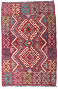Kilim Afghan Old Style Rug 98X146 Authentic  Oriental Handwoven Dark Red/Dark Grey (Wool, Afghanistan)