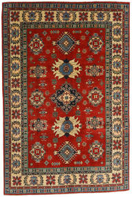 Kazak Rug 182X276 Authentic  Oriental Handknotted Dark Grey/Rust Red (Wool, Afghanistan)