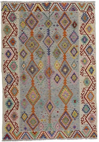 Kilim Afghan Old Style Rug 200X287 Authentic  Oriental Handwoven Light Grey/Light Brown (Wool, Afghanistan)