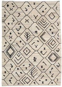 Kilim Ariana Rug 206X292 Authentic  Modern Handwoven Light Grey/Dark Grey (Wool, Afghanistan)