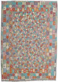 Kilim Afghan Old Style Rug 213X300 Authentic  Oriental Handwoven Dark Grey/Light Grey (Wool, Afghanistan)