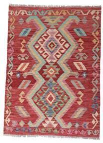 Kilim Afghan Old Style Rug 102X140 Authentic  Oriental Handwoven Dark Red/Rust Red (Wool, Afghanistan)