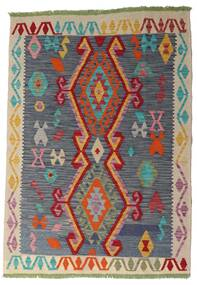 Kilim Afghan Old Style Rug 106X151 Authentic  Oriental Handwoven Dark Grey/Dark Red (Wool, Afghanistan)