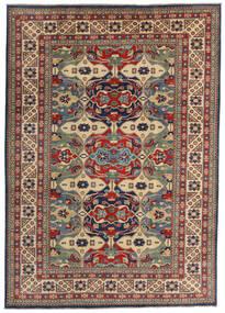 Kazak Rug 200X282 Authentic  Oriental Handknotted Dark Red/Dark Grey (Wool, Afghanistan)