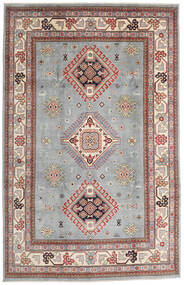 Kazak Rug 195X304 Authentic Oriental Handknotted Light Grey/Light Brown (Wool, Afghanistan)