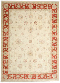 Ziegler Ariana Rug 301X417 Authentic  Oriental Handknotted Beige/Crimson Red Large (Wool, Afghanistan)