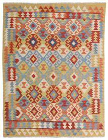 Kilim Afghan Old Style Rug 149X198 Authentic  Oriental Handwoven Crimson Red/Dark Beige (Wool, Afghanistan)