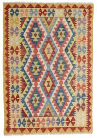 Kilim Afghan Old Style Rug 104X155 Authentic  Oriental Handwoven Dark Beige/Dark Red (Wool, Afghanistan)