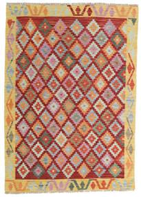 Kilim Afghan Old Style Rug 105X150 Authentic  Oriental Handwoven Dark Beige/Dark Red (Wool, Afghanistan)
