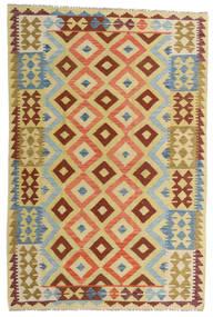 Kilim Afghan Old Style Rug 125X188 Authentic  Oriental Handwoven Yellow/Beige (Wool, Afghanistan)
