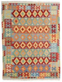 Kilim Afghan Old Style Rug 156X206 Authentic  Oriental Handwoven Dark Beige/Light Grey (Wool, Afghanistan)