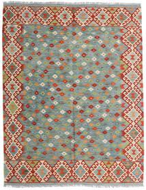 Kilim Afghan Old Style Rug 159X196 Authentic  Oriental Handwoven Light Grey/Dark Red (Wool, Afghanistan)
