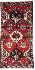 Hamadan Rug 103X207 Authentic  Oriental Handknotted Dark Red/Black (Wool, Persia/Iran)