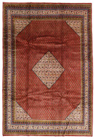Sarouk Mir Rug 209X308 Authentic  Oriental Handknotted Dark Red/Dark Brown (Wool, Persia/Iran)
