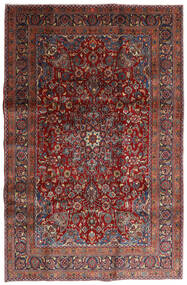 Mashad Rug 198X301 Authentic  Oriental Handknotted Dark Red/Dark Grey (Wool, Persia/Iran)