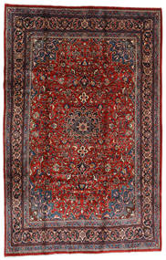 Mahal Rug 207X317 Authentic Oriental Handknotted Dark Red/Black (Wool, Persia/Iran)