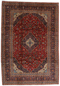 Keshan Rug 245X354 Authentic  Oriental Handknotted Dark Brown/Dark Red (Wool, Persia/Iran)