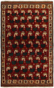 Qashqai Rug 118X194 Authentic  Oriental Handknotted Crimson Red/Dark Red (Wool, Persia/Iran)