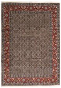 Moud Rug 245X347 Authentic  Oriental Handknotted Dark Grey/Dark Red (Wool/Silk, Persia/Iran)