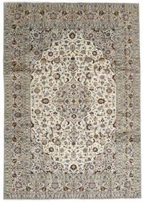 Keshan Rug 246X352 Authentic  Oriental Handknotted Light Grey/Dark Grey (Wool, Persia/Iran)