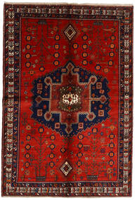 Afshar Rug 158X232 Authentic  Oriental Handknotted Dark Red/Rust Red (Wool, Persia/Iran)