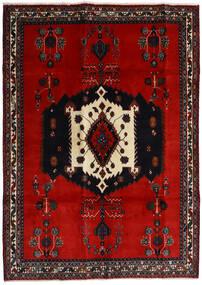 Afshar Rug 188X261 Authentic  Oriental Handknotted Black/Rust Red/Dark Red (Wool, Persia/Iran)