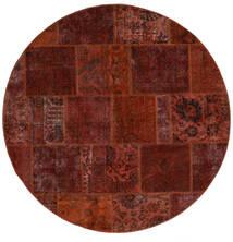 Patchwork - Persien/Iran Rug Ø 200 Authentic  Modern Handknotted Round Dark Brown/Dark Red (Wool, Persia/Iran)