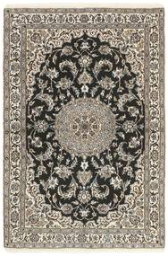 Nain 9La Rug 116X174 Authentic  Oriental Handknotted Dark Grey/Light Grey/Beige (Wool/Silk, Persia/Iran)