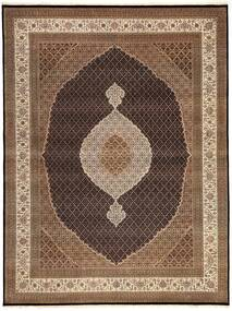 Tabriz Royal Rug 9′10″X13′ Authentic  Oriental Handknotted Brown/Dark Brown Large ( India)