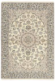Nain 9La Rug 120X177 Authentic  Oriental Handknotted Light Grey/Beige (Wool/Silk, Persia/Iran)