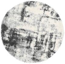 Marble Rug Ø 150 Modern Round Light Grey/Dark Grey ( Turkey)