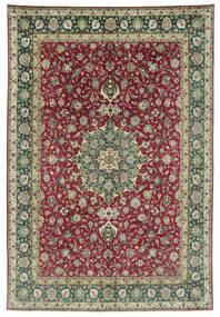 Tabriz 50 Raj Rug 245X362 Authentic  Oriental Handknotted Dark Grey/Dark Red (Wool, Persia/Iran)